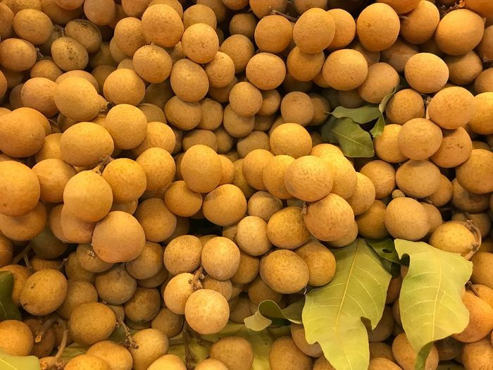 Freshness from the market Fruit Market Longan Thai Fruit Backgrounds Full Frame Large Group Of Objects Food And Drink No People Abundance Freshness Market Organic Nature Business Finance And Industry Healthy Eating Retail  For Sale Market Stall Still Life