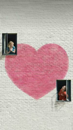 Heart Shape Love Real People Two People Architecture Day Togetherness Men Technology People Adult Building Exterior Young Adult Adults Only Outdoors Only Men