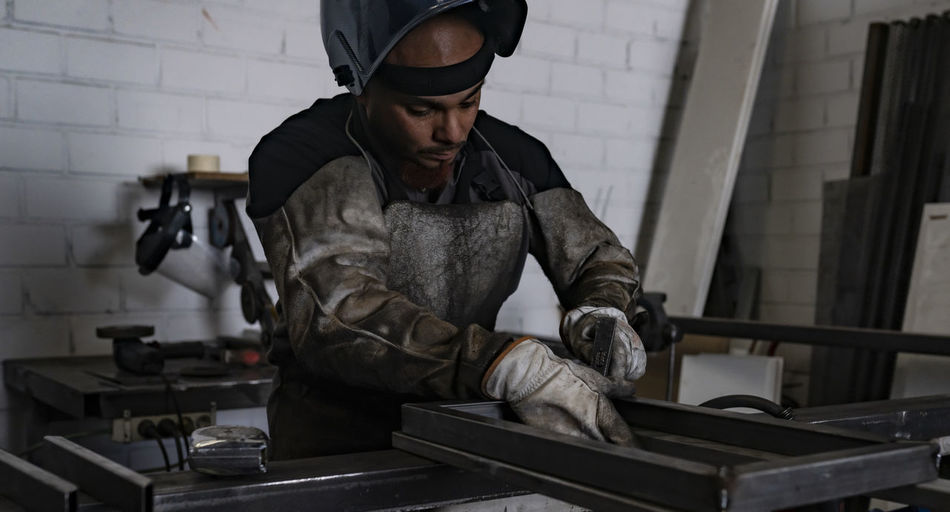 Young man working