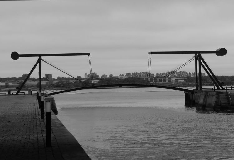 Blackandwhite City Water Cityscape Bridge - Man Made Structure River Industry Cable-stayed Bridge Horizon Over Water The Great Outdoors - 2019 EyeEm Awards The Architect - 2019 EyeEm Awards