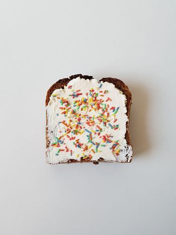 Add some color to your life Studio Shot Sweet Food Multi Colored No People White Background Ready-to-eat Bread Cream Colored Sugar Breakfast Corn Grain Start The Day Fun Food Good Morning Happiness Hungry Food Healthy Eating Energyboost Children's Food Crumbles Icing Candy Sprinkles Candy