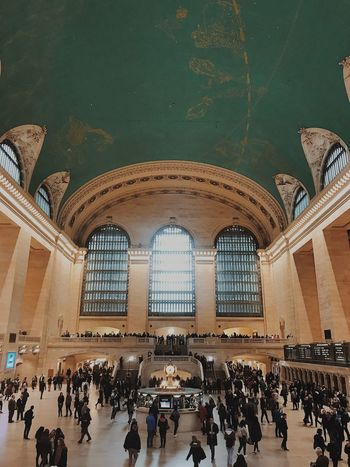 Grand Central Station Train Station Large Group Of People Crowd Group Of People Architecture Built Structure Real People Arch Travel Indoors  Men Day History The Past Lifestyles Railroad Station Travel Destinations Tourism Ceiling Ornate