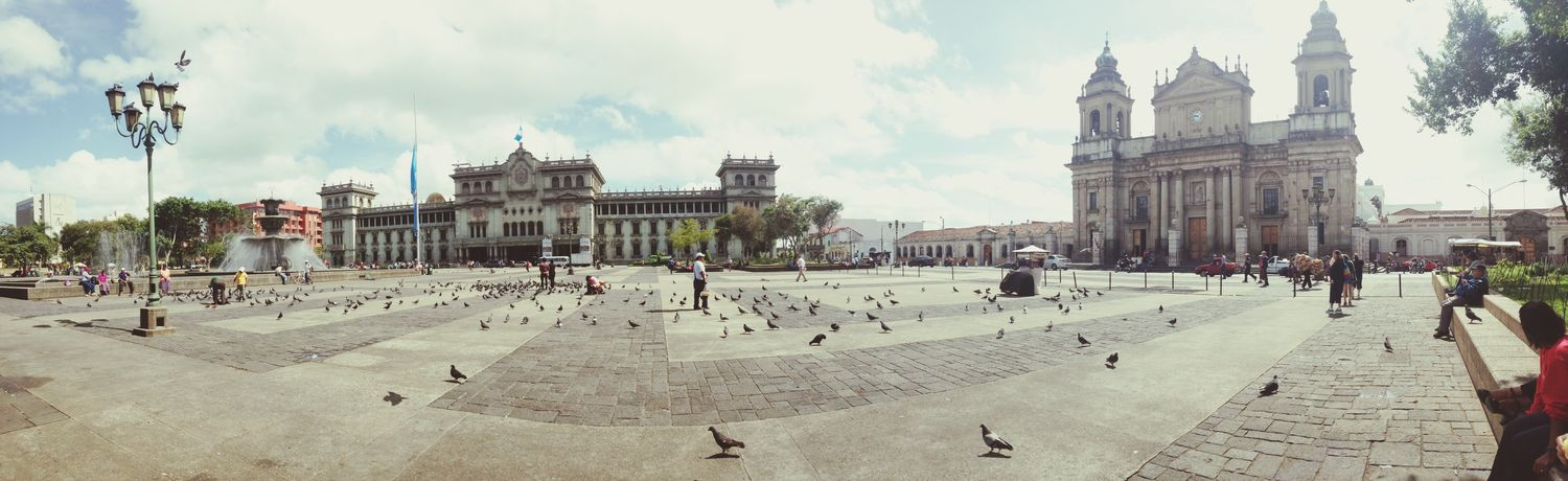 The capital of Guatemala Walking Around Peceful Beautiful Day