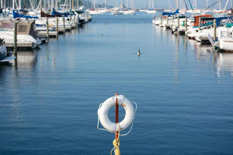 Life belt at harbor