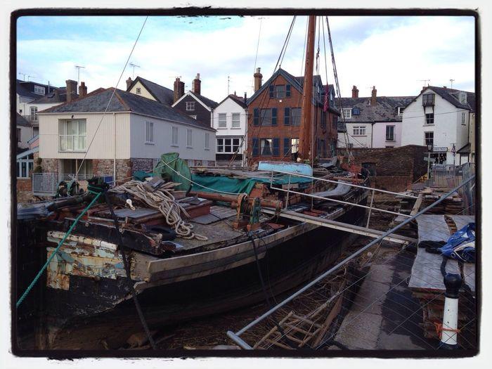 "Old Boat - The Thames Barge ""Vigilant"" built in 1904 undergoing Restoration - Labour Of Love"