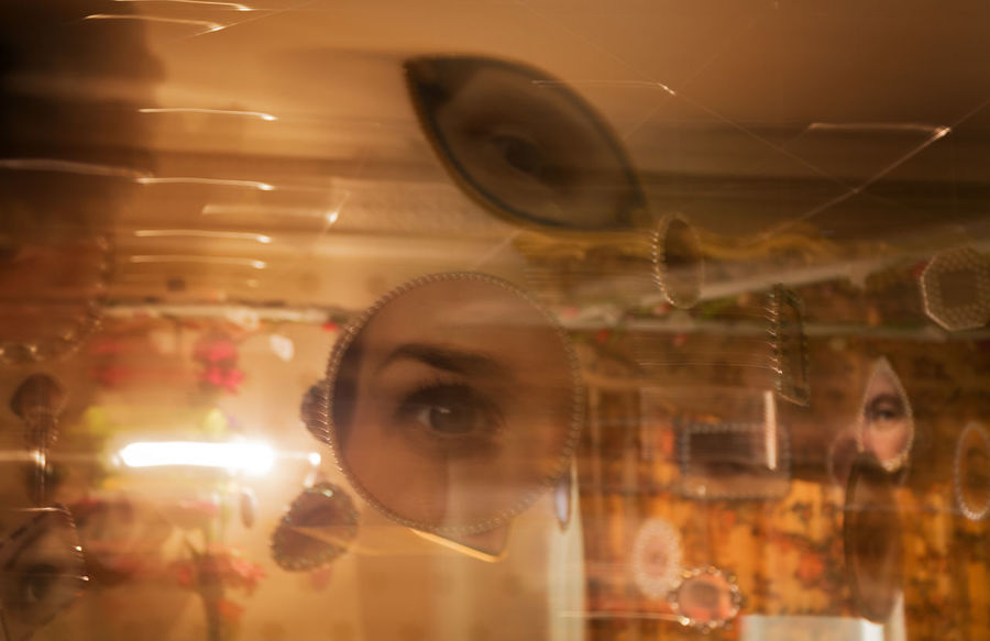 Eye - Glass - Material Reflection Adult Transparent Digital Composite Indoors  Portrait Multiple Exposure Illuminated Looking Close-up Eyesight Young Adult Long Exposure
