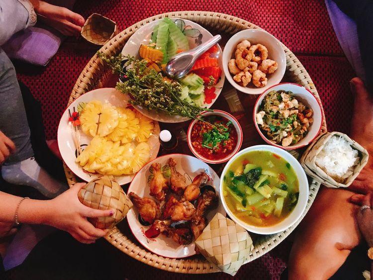 ขันโตก@บ้านไร่กองขิง Food Meal Chaing Mai Checking In