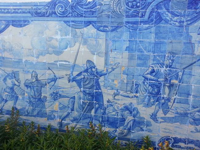 Portuguese tiles Crusades Lisbon Lisbon Conquest Lisbon History Martim Moniz  Portuguese Tiles  Religion Tiles