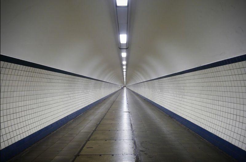 Long Illuminated Tunnel