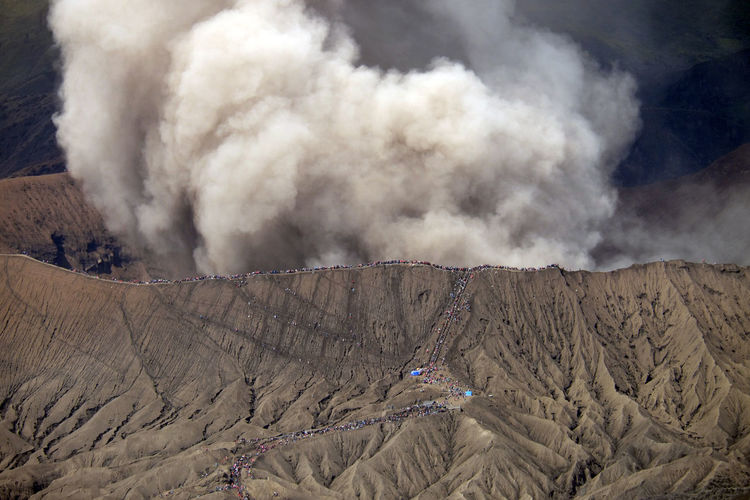 Eruption of Mount Bromo Asian  Hiking Holiday Mount Bromo Nature Vacations Beauty In Nature Bromo Crater Bromo Mountain Environment Erupting Geology Indonesia Photography  Land Landscape Mountain Nature Outdoors Physical Geography Scenics - Nature Smoke - Physical Structure Tourism Travel Destinations Volcanic Crater Volcano