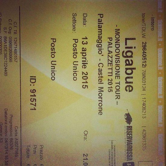 Oh finalmente... Ligabue Liga Mondovisione Tour caserta pamalaggio castel morrone l7 rock band