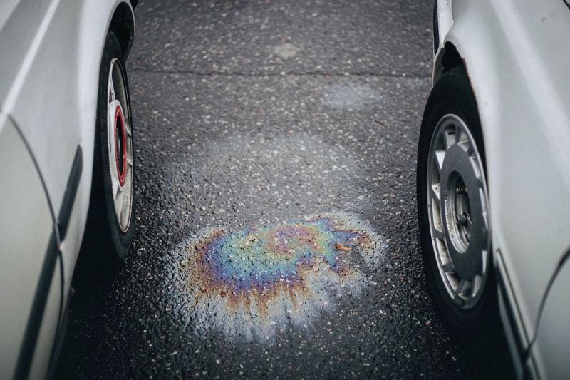 Gasoline on the asphalt