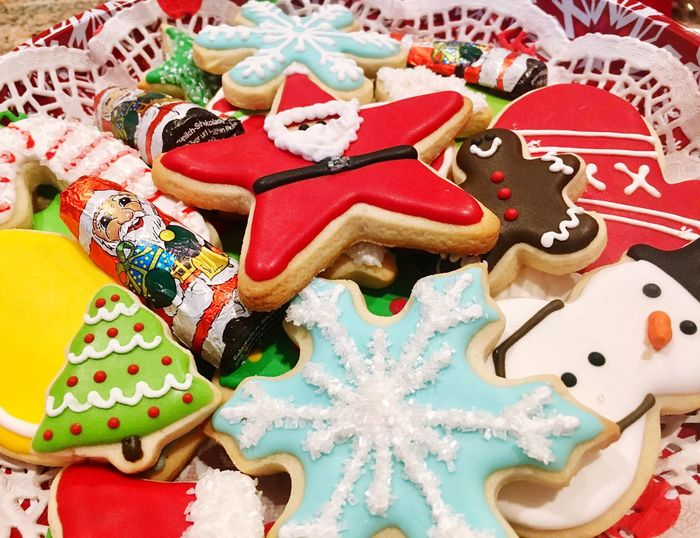Homemade decorated Christmas cookies Celebration Sweet Food Party - Social Event Christmas Christmastime Cookies Christmas Cookies Day Art Is Everywhere Visual Feast Food Stories