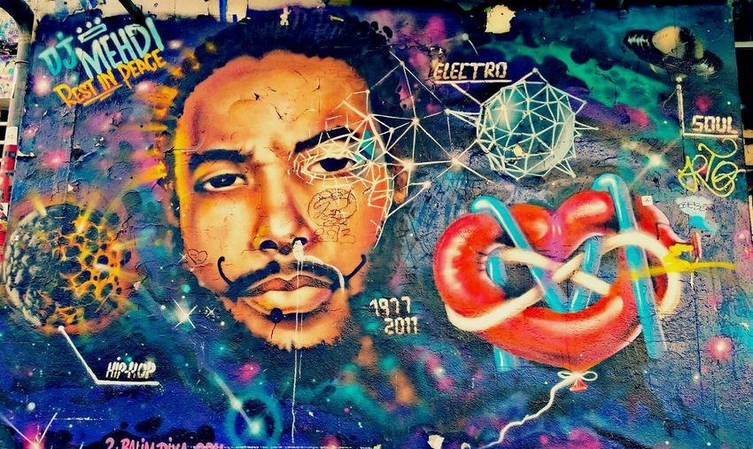 Streetart Graffiti Djmehdi Paris ❤ 13eme @ghettoart Restinpeace HipHop Tchdwnprod