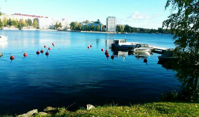 Finland♥ Savonlinna Tree Sea Lake Day Water Outdoors Sky Nature Rippled Growth Building Exterior Scenics Tranquil Scene Vacations City Life Blue Tranquility Swimming Tree Water Surface