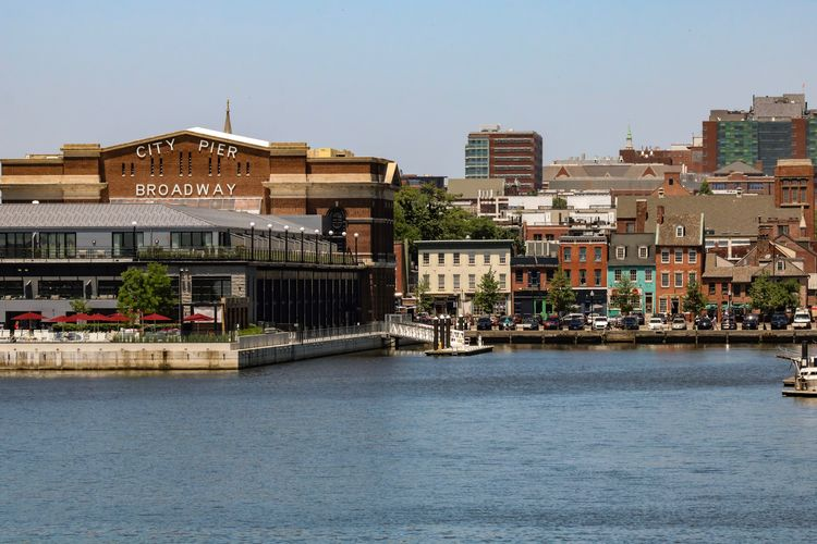 Waterfront Baltimore Baltimore Maryland Baltimore, Fellspoint Building Exterior Architecture Built Structure City Building Sky Day Nature Residential District Outdoors Clear Sky Transportation Street Sunlight Water Tree Cityscape The Street Photographer - 2018 EyeEm Awards