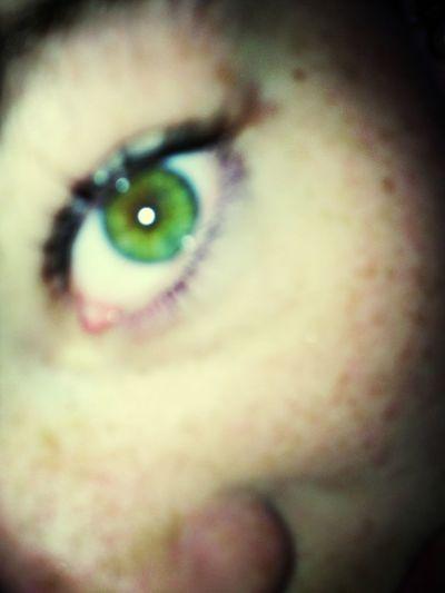Green Eyes With A Blue Rim. ☺
