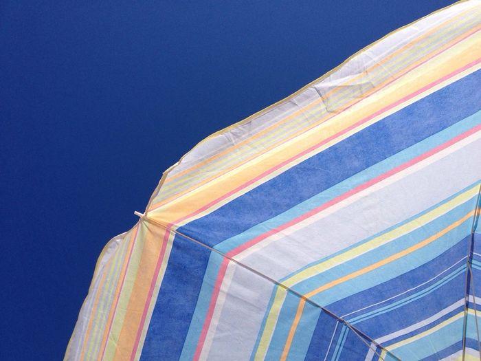 Parasol Sky Blue Sunny Sunny Day Sunshade Ibiza Ibiza Beach RePicture Travel