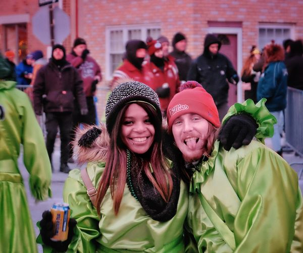 Phillylove ❤️ MummersParade2018 Warm Clothing Winter Women Smiling Real People Cold Temperature Togetherness Happiness Day Portrait Adult