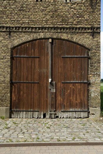 Architecture Barn Close-up Closed Day Door Entrance Entry No People Outdoors Protection Safety Security Wood - Material