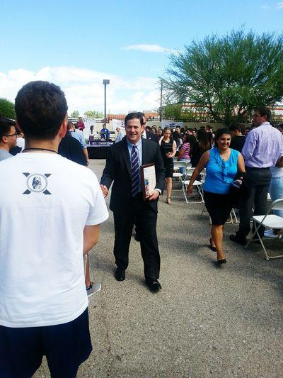 Governor of Arizona visiting Alta Vista High School