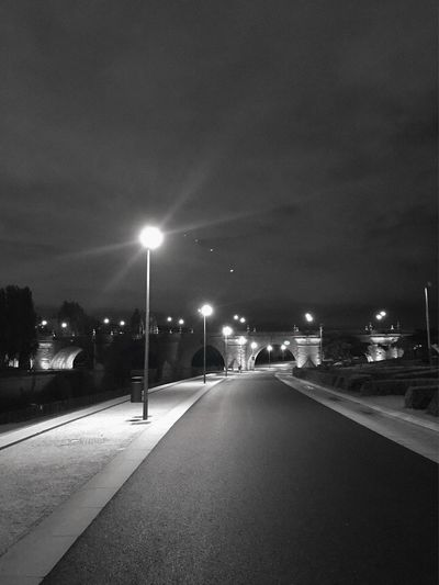 Street Illuminated Street Light Night Road City The Way Forward Transportation Direction Lighting Equipment No People Diminishing Perspective Building Exterior Empty Architecture Nature