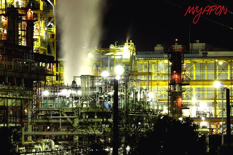 堺浜寺の工場にて❗️ Factory Oosaka  Night Night View Night Lights Holiday