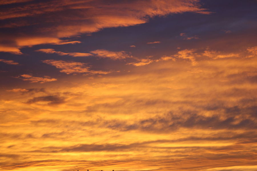 Beauty In Nature Cloud - Sky Cloudscape Dramatic Sky Idyllic Nature Orange Color Sunset Tranquil Scene