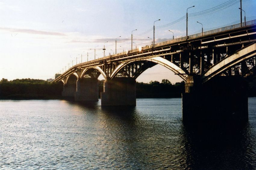 35mm Arch Arch Bridge Architecture Bridge Bridge - Man Made Structure Built Structure Cloud Connection Day Diminishing Perspective Engineering Long Nature No People Outdoors Rippled River Sky Tranquil Scene Tranquility Travel Destinations Water Waterfront