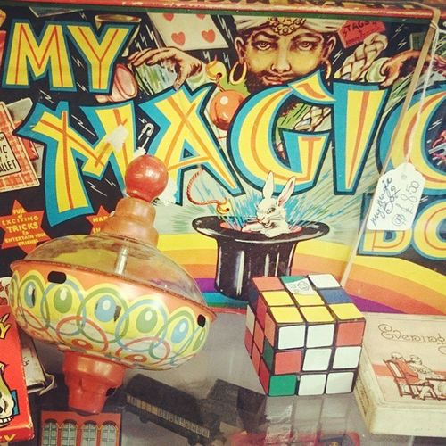 Jan 15. Old. Fmsphotoaday Old Toys Retro spinningtop rubikscube magic antique