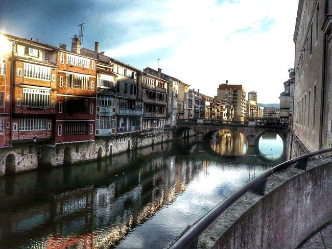 Architecture Built Structure Building Exterior Water Sky Canal Reflection Travel Destinations Bridge - Man Made Structure Outdoors Connection City No People Cloud - Sky Day Toulouse France Worldwide_shot Turkey Ig_worldclub Travel