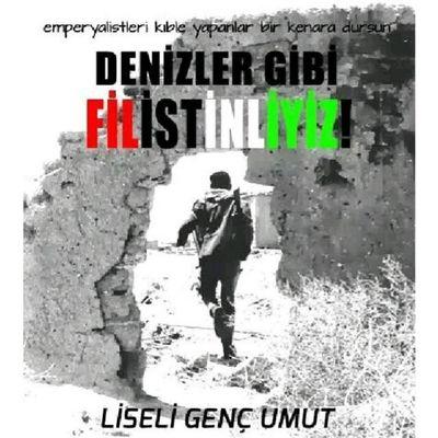 Zulmün olduğu heryerdeyiz,Denizler gibi Filistinliyiz ! Filistin Liseligencumut