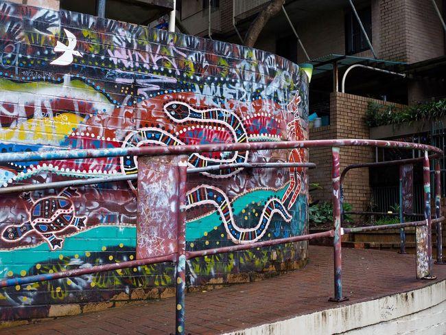 Australia City Day Graffiti Graffiti & Streetart No People Outdoors Railing Street Streetart Streetphotography Sydney Urban