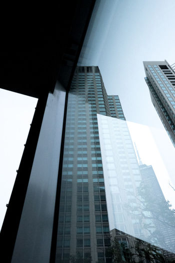 Architecture Blue Building Building Exterior Chicago Glass Window