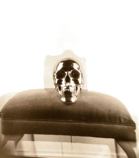 Double exposure, holga on ilford White Background Blackandwhite Analog Double Exposure Film Analogue Photography Dblexpo Film 120 Film Photography Dblexp Holga120 No People Skull Skull Face SkullOfTheDay Skull
