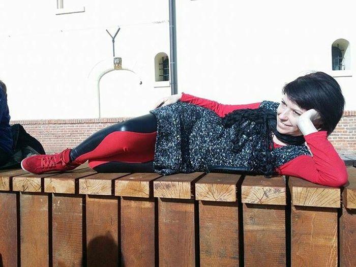 Relaxing Portrait Of A Woman Enjoying Life
