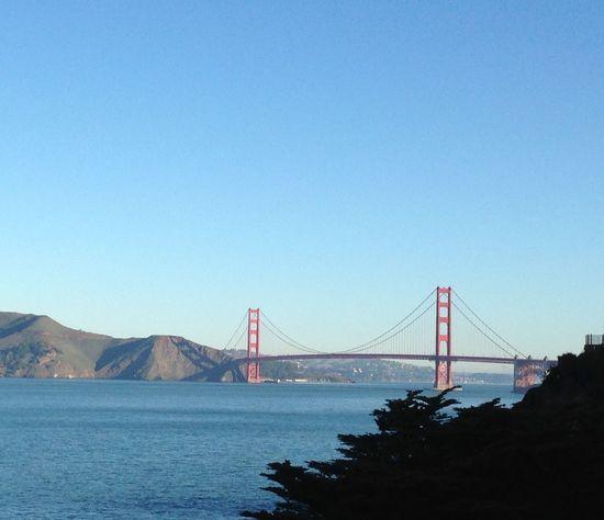 San Francisco Golden Gate Bridge États-Unis Red Golden Gate Bridge Is Red Ocean Bridge Clear Sky Sky Ocean Sky Bridge View San Fransisco Bay San Francisco, California Monuments Monuments Of The World Famous Place Famous