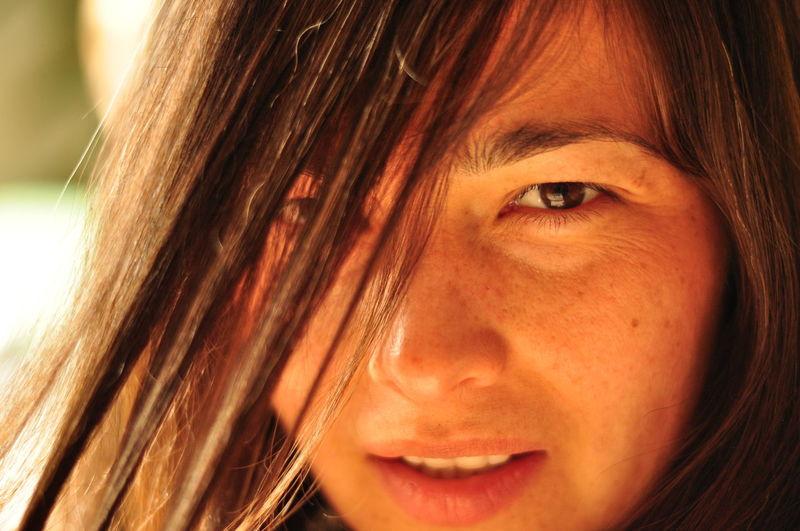 Beauty Brown Hair Close-up Hair Headshot Human Face Mirage Portrait Woman Portrait The Portraitist - 2016 EyeEm Awards Uniqueness Experimental Expression Serious Sunlight Fine Art Photography Expressive EyeEm Best Shots Shades Of Brown