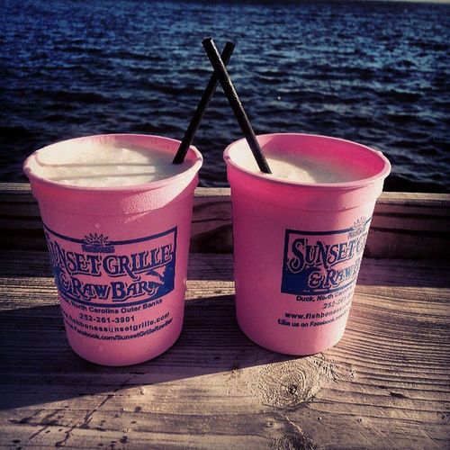Pina colada! OBX Sunsetgrille Outerbanks