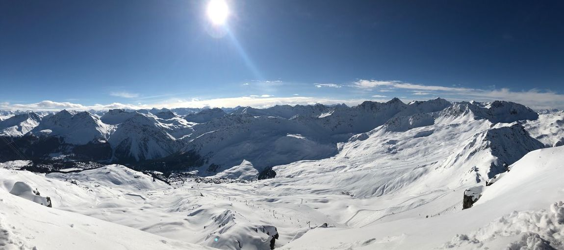 Arosa max Slope Sun No People Mountains Slopes Mountain Peak Snow Sky Scenics - Nature Winter Beauty In Nature Cold Temperature Mountain
