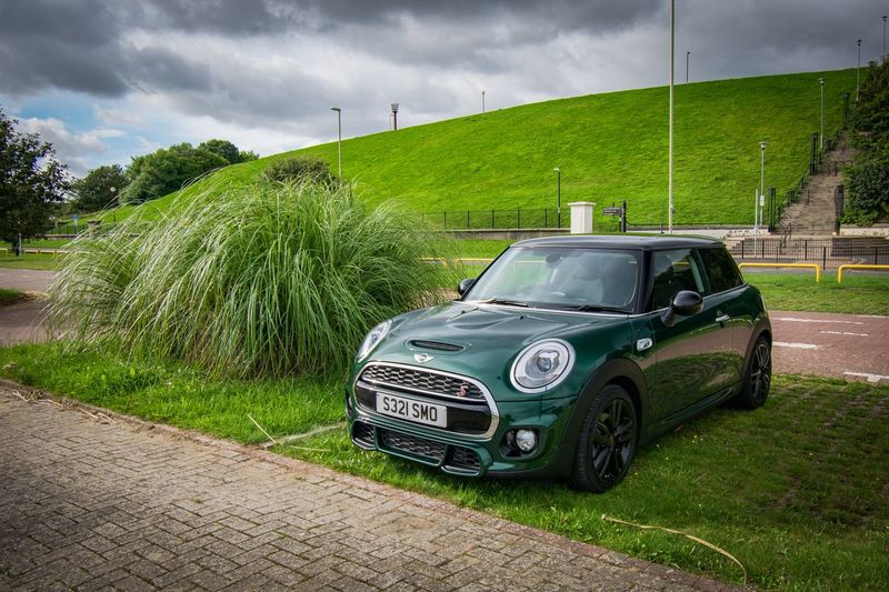 Loving the mini 👌🏻 Sky_collection Eye4photography  Skyporn Clouds And Sky Sky And Clouds Nikonphotography Mini Cooper SD Mini Mode Of Transportation Transportation Motor Vehicle Green Color Plant Sky Car Land Vehicle Tree Grass Outdoors Cloud - Sky