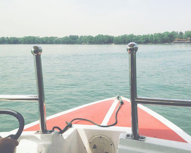Traveling In China Kunming Lake Summer Place In Beijing Boating Summertime Beijing, China Boat Trip Boat Ride
