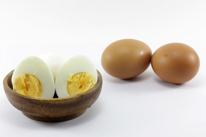 Eggs isolated on white background Eggs Isolated On White Background Close-up Day Egg Egg Yolk Food Food And Drink Freshness Fruit Healthy Eating Indoors  No People Still Life Studio Shot White Background