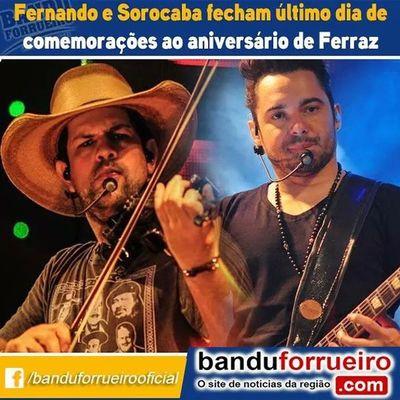 Confira no nosso site: www.banduforrueiro.com Ferrazdevasconcelos Aniversario 61anos Show fernandoesorocaba