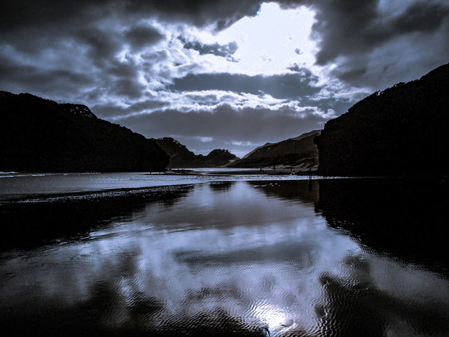 BethellsBeach Bethells Landscape Reflection Cloudy Day The Essence Of Summer Cloud - Sky Scenics Water Outdoors Sky NZ New Zealand West Coast Beach People And Places Nature Ocean Reflective Summer Black Sand Beach Miles Away The Great Outdoors - 2017 EyeEm Awards