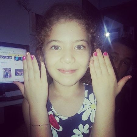 Minha princesinha de unhas feitas! Amor Love Amovc Top minhajubinha