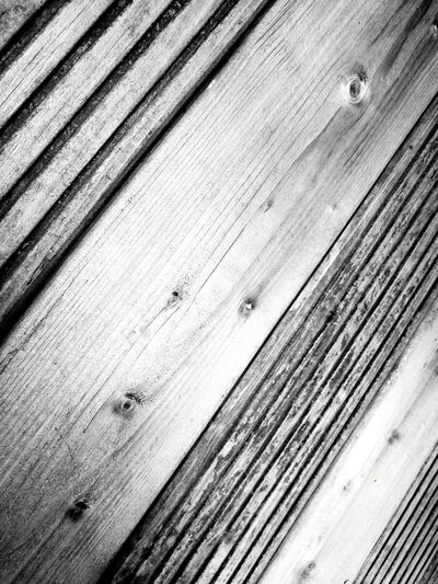 Wooden Wood - Material Background Full Frame Plank Wood Paneling Decking Weathered Black And White Lines And Patterns Lines Repetition Version No People Textured  Wood Outside