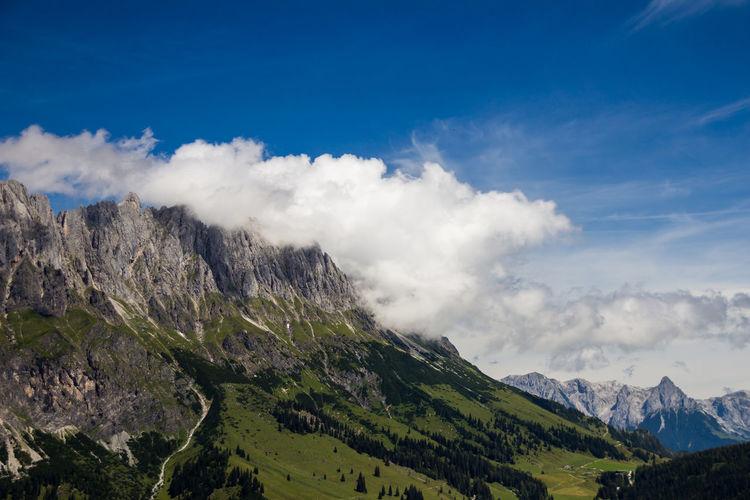 Hochkönig Austria Beauty In Nature Blue Cloud - Sky Day Hochkonig Hochkonig Idyllic Landscape Mountain Mountain Range Nature No People Outdoors Scenics Sky Tranquil Scene Tranquility Valley Österreich