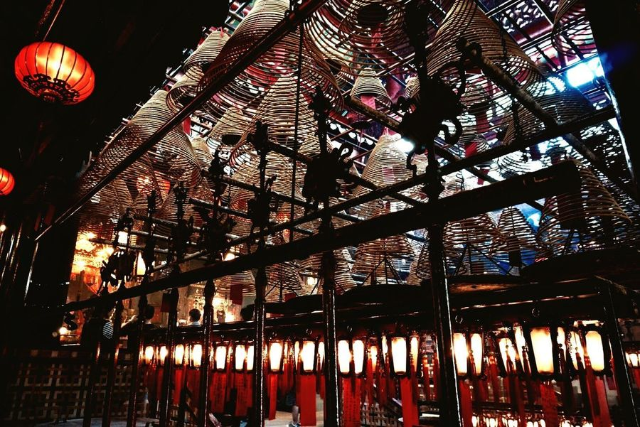 Hello World Hello Hong Kong Man Mo Temple Architecture Low Angle View Lookingup Hanging Lanterns Red Color Indoors  No People Temple Architecture Temple - Building Real Life Incense Taking Pictures Click Click 📷📷📷 Enjoying Life Details Hello Asia Hello China Peaceful ASIA China Tradition