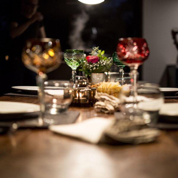 Food Dinner Table Glasses